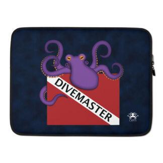 "CAVIS Dive Flag Purple Octopus Laptop Sleeve - Divemaster - 15"""