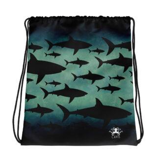 CAVIS Shark Pattern Drawstring Bag