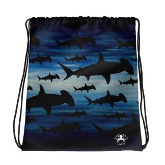 CAVIS Hammerhead Shark Pattern Drawstring Bag
