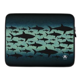 CAVIS Shark Pattern Laptop Sleeve - 15 inch