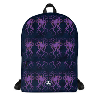 CAVIS Purple Octopus Pattern Backpack