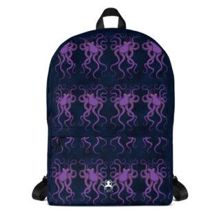 CAVIS Purple Octopus Pattern Backpack