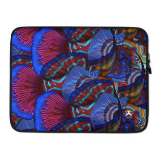 CAVIS Mandarinfish Pattern Laptop Sleeve - Mandarin fish Case - 15 inch