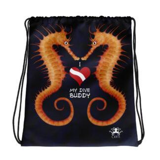Scuba Diver Drawstring Bags