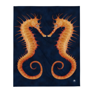 CAVIS Seahorse Soft Throw Blanket