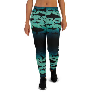 CAVIS Shark Pattern Joggers - Women's Sweatpants - Front