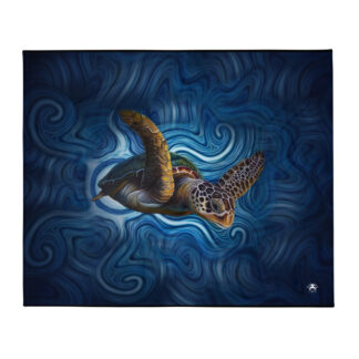 CAVIS Sea Turtle Throw Blanket