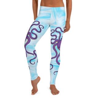 CAVIS Purple Octopus Leggings - Light Blue - Women's - Front