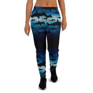 CAVIS Shark Pattern Hammerhead Joggers - Women's Sweatpants - Front