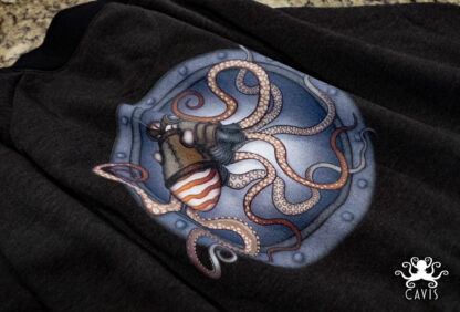 CAVIS Steampunk Octopus Bomber Jacket Fabric - Logo