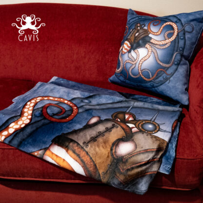 CAVIS Steampunk Octopus Blanket and Pillow 1