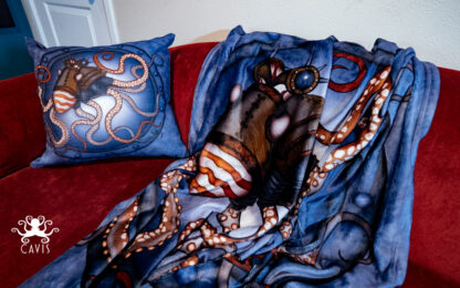 CAVIS Steampunk Octopus Blanket and Pillow 3