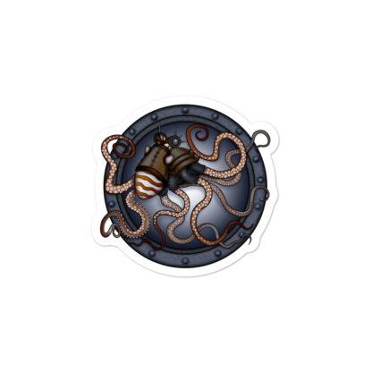 CAVIS Steampunk Octopus Sticker - 3 inch
