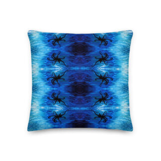 CAVIS Blue Ocean Octopus Pillow - Front