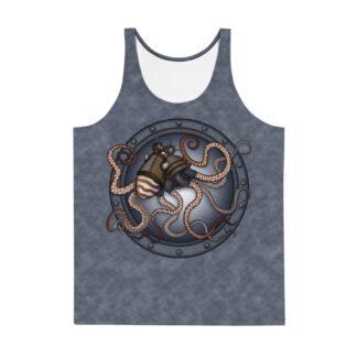 CAVIS Steampunk Octopus Tank Top - Front