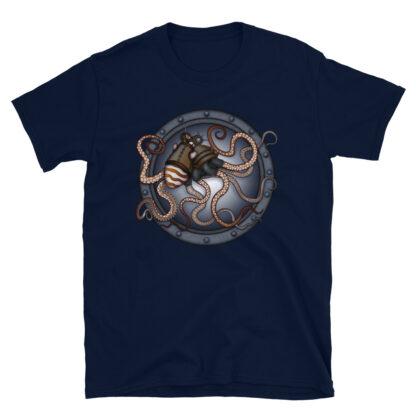 CAVIS Steampunk Octopus T-Shirt - Navy Blue
