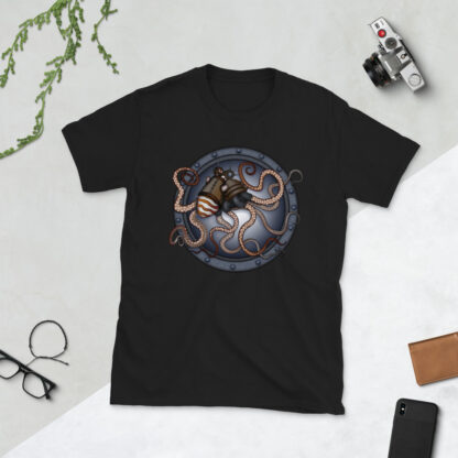 CAVIS Steampunk Octopus T-Shirt - Lifestyle - Black