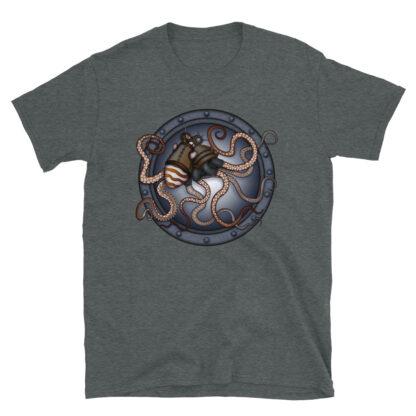 CAVIS Steampunk Octopus T-Shirt - Gray