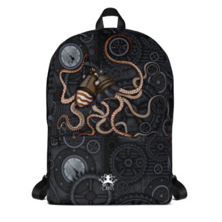 CAVIS Steampunk Octopus Gears Backpack - Front