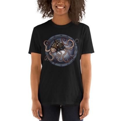 CAVIS Steampunk Octopus T-Shirt - Women's - Black