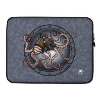 CAVIS Steampunk Octopus Laptop Sleeve - 15 Inch