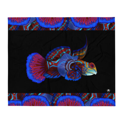 CAVIS Mandarinfish Soft Colorful Throw Blanket