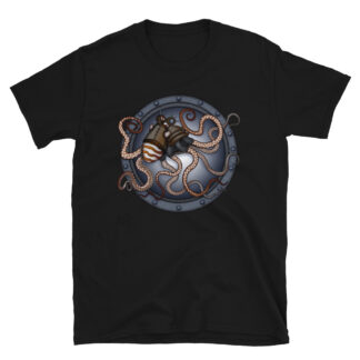 CAVIS Steampunk Octopus T-Shirt - Men's - Black