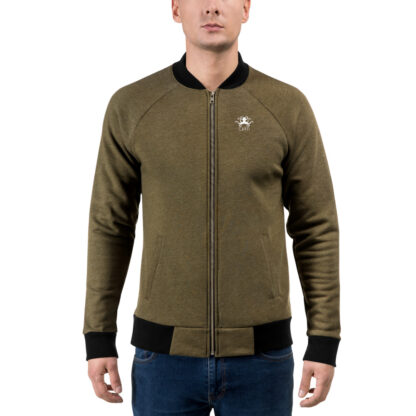 CAVIS Steampunk Octopus Bomber Jacket - Heather Military Green - Front