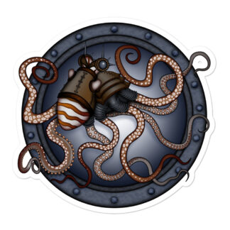 CAVIS Steampunk Octopus Sticker - 5 inch
