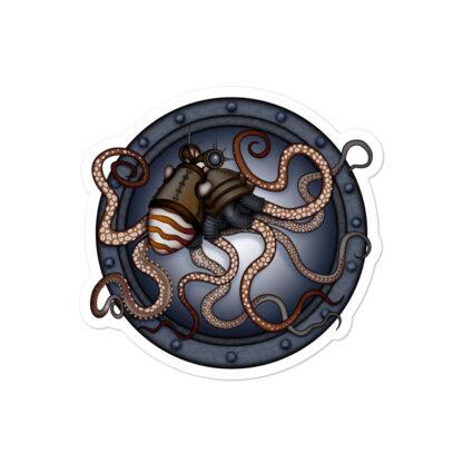 CAVIS Steampunk Octopus Sticker - 4 inch