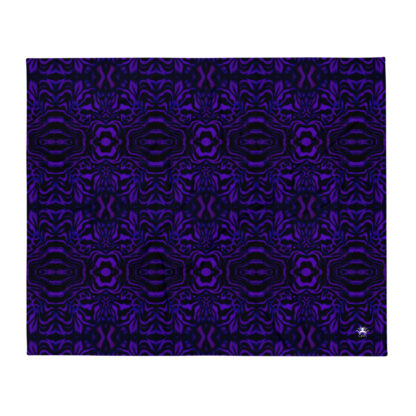 CAVIS Wonderpus Soft Throw Blanket - Purple Black