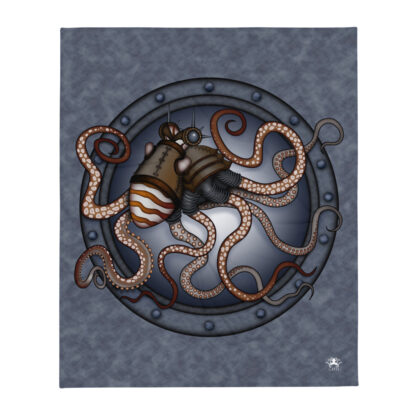 CAVIS Steampunk Octopus Throw Blanket