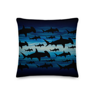 CAVIS Shark Pattern Hammerhead Pillow - Front