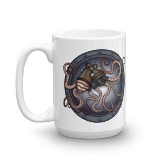 CAVIS Steampunk Octopus Mug - 15 Oz.