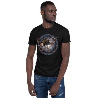 CAVIS Steampunk Octopus T-Shirt - Men's - Black