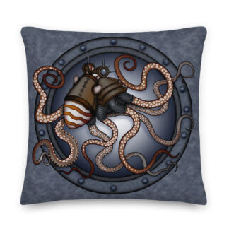 CAVIS Steampunk Octopus Pillow - Front