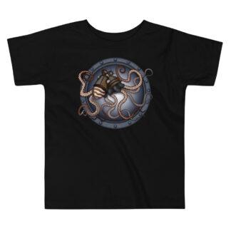 CAVIS Steampunk Octopus kid's T-Shirt - Black