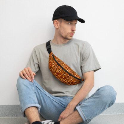 CAVIS Wunderpus Pattern Fanny Pack - Yellow Orange Alternative Sea Life Waist Bag - Lifestyle 1