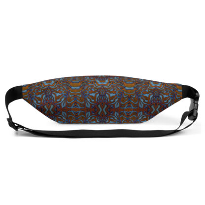 CAVIS Wunderpus Pattern Fanny Pack - Orange Blue Alternative Sea Life Waist Bag - Back