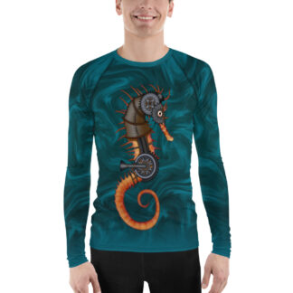 CAVIS Steampunk Seahorse Men's Rash Guard - Front