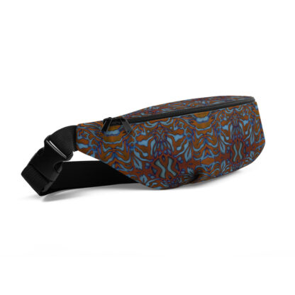 CAVIS Wunderpus Pattern Fanny Pack - Orange Blue Alternative Sea Life Waist Bag - Right