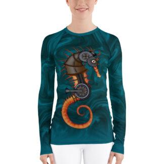 CAVIS Steampunk Seahorse Women's Rash Guard - Front