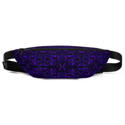 CAVIS Wunderpus Pattern Fanny Pack - Purple Black Alternative Sea Life Waist Bag - Front