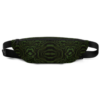 CAVIS Wunderpus Pattern Fanny Pack - Green Black Alternative Sea Life Waist Bag - Front