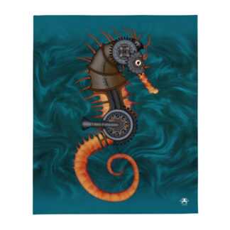 CAVIS Steampunk Seahorse Throw Blanket