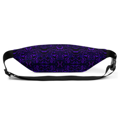CAVIS Wunderpus Pattern Fanny Pack - Purple Black Alternative Sea Life Waist Bag - Back