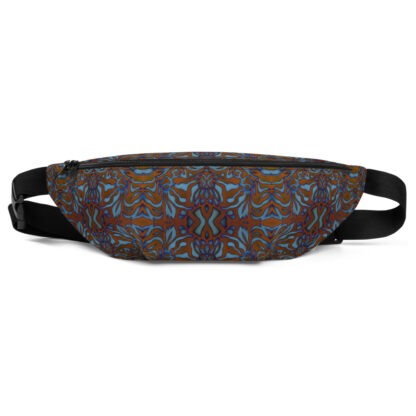 CAVIS Wunderpus Pattern Fanny Pack - Orange Blue Alternative Sea Life Waist Bag - Front