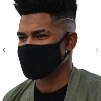 Black Fabric Face Mask - Left