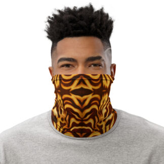 CAVIS Wunderpuss Gaiter Yellow Orange Alternative Face Mask - Men's - Front
