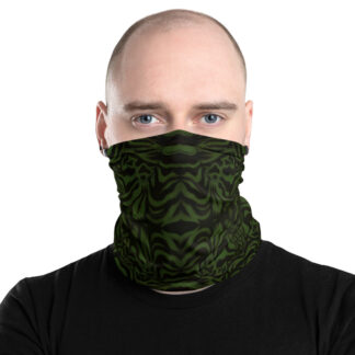 CAVIS Wunderpuss Gaiter Green Black Alternative Face Mask - Men's - Front2
